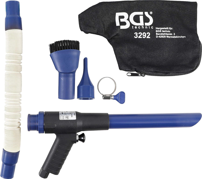 Pistolet /à air comprim/é aspirant et soufflant BGS 3292 r/éversible 9 pi/èces