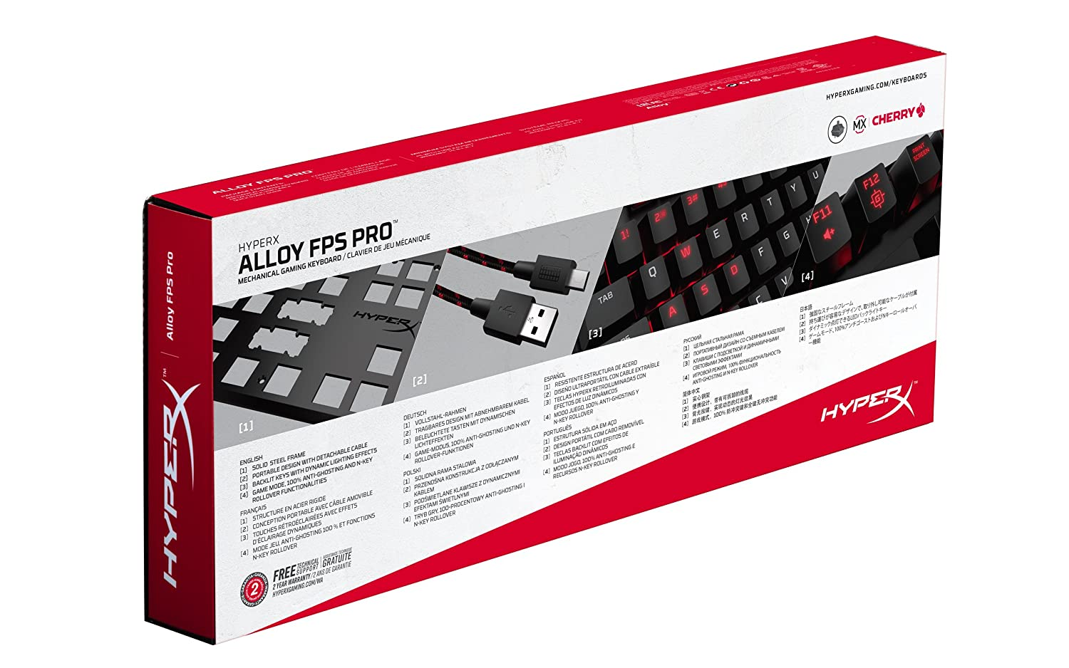 Cooling Gel Cherry MX Brown and HyperX Wrist Rest HyperX Alloy FPS