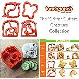 Lunch Punch Animal Shape Sandwich Cutters (Set of 4)