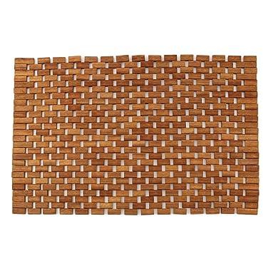 Teak Non Slip Bath Mat, Mold Resistant Bath Mat, Foldable Indoor/Outdoor Teak Bath Mat, Teak Shower Mat