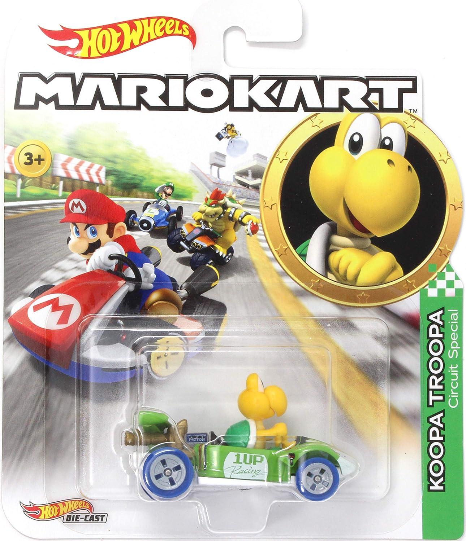 Amazon Com Hw Character Cars Mario Kart Koopa Troopa Die Cast 1