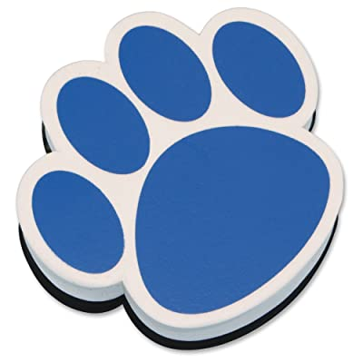 Ashley Productions Ash10002 Magnetic Whiteboard Eraser Blue Paw: Office Products