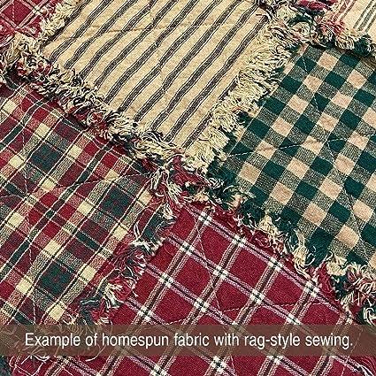 Stripes Primitive Homespun Fabric By the Yard~You Choose~Plaids Checks Solids~Custom Cut~
