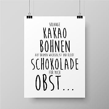 Papierschmiede Spruch Poster Küche Schlafzimmer Wohnzimmer Wg Poster A4 Kunstdruck Als Wand Dekoration Für Den Bilderrahmen Redewendung Zitat