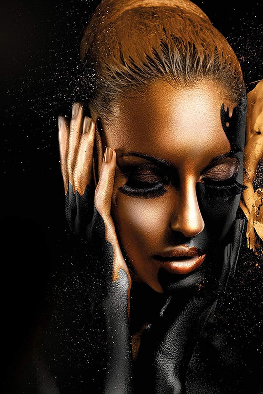 Fairy-Margot Schwarzes Gold nackte afrikanische Kunst Frau