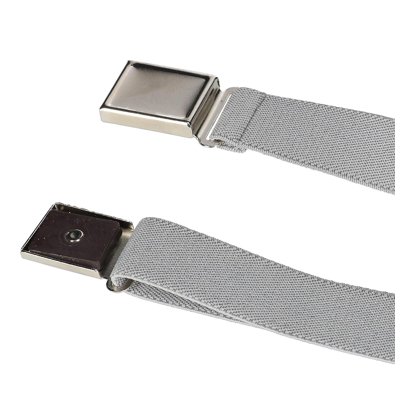 CTM/® Kids Elastic 1 Inch Adjustable Belt with Magnetic Buckle Khaki