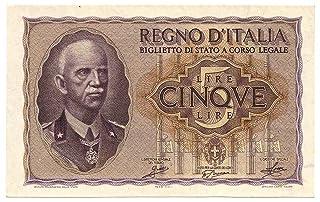 Cartamoneta.com 5 Lire Biglietto di Stato EFFIGE Vittorio Emanuele III 1940 XVIII FDS-/FDS