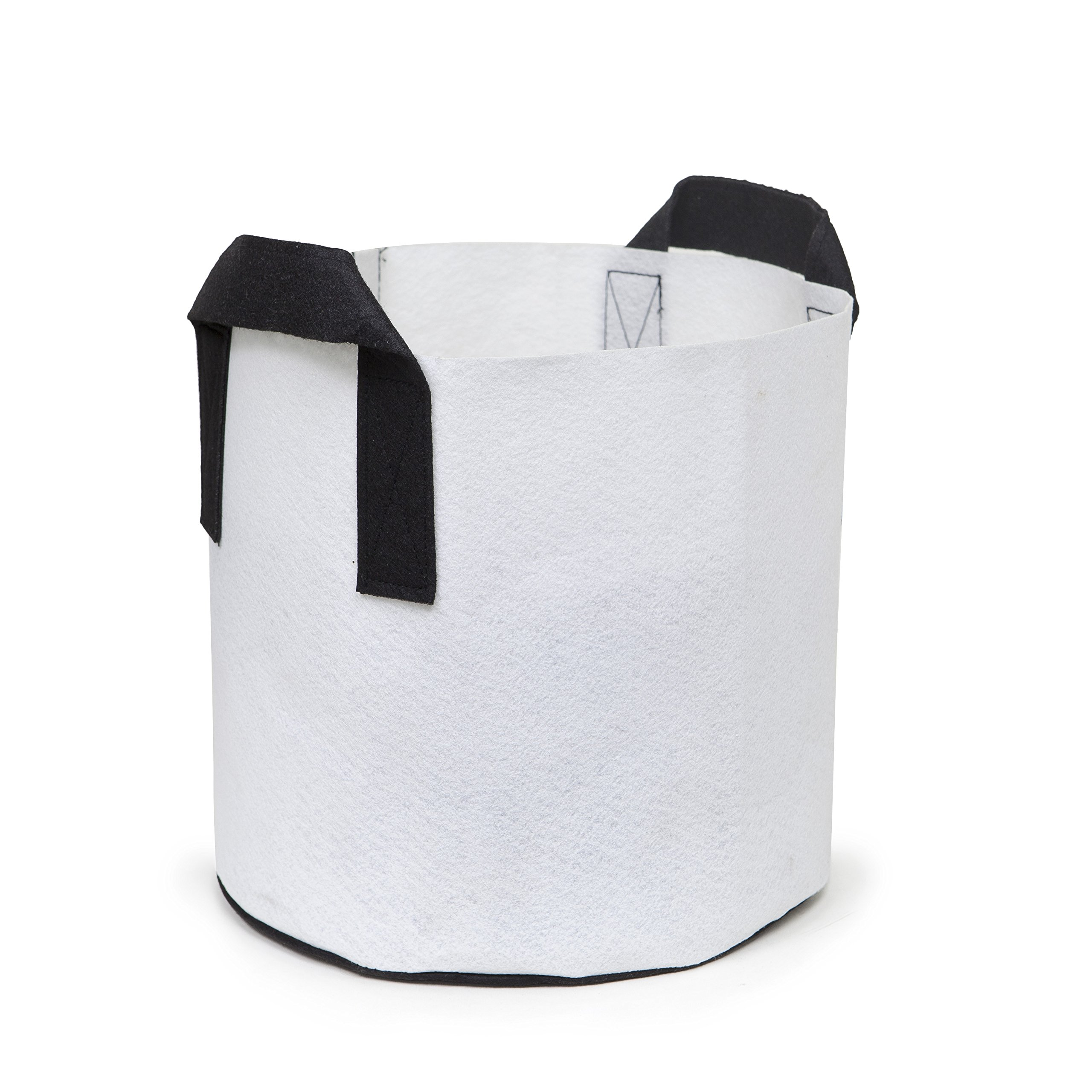 247Garden 6-Pack 7 Gallon Grow Bags/Aeration Fabric Pots w/Handles (White) by 247Garden (Image #4)