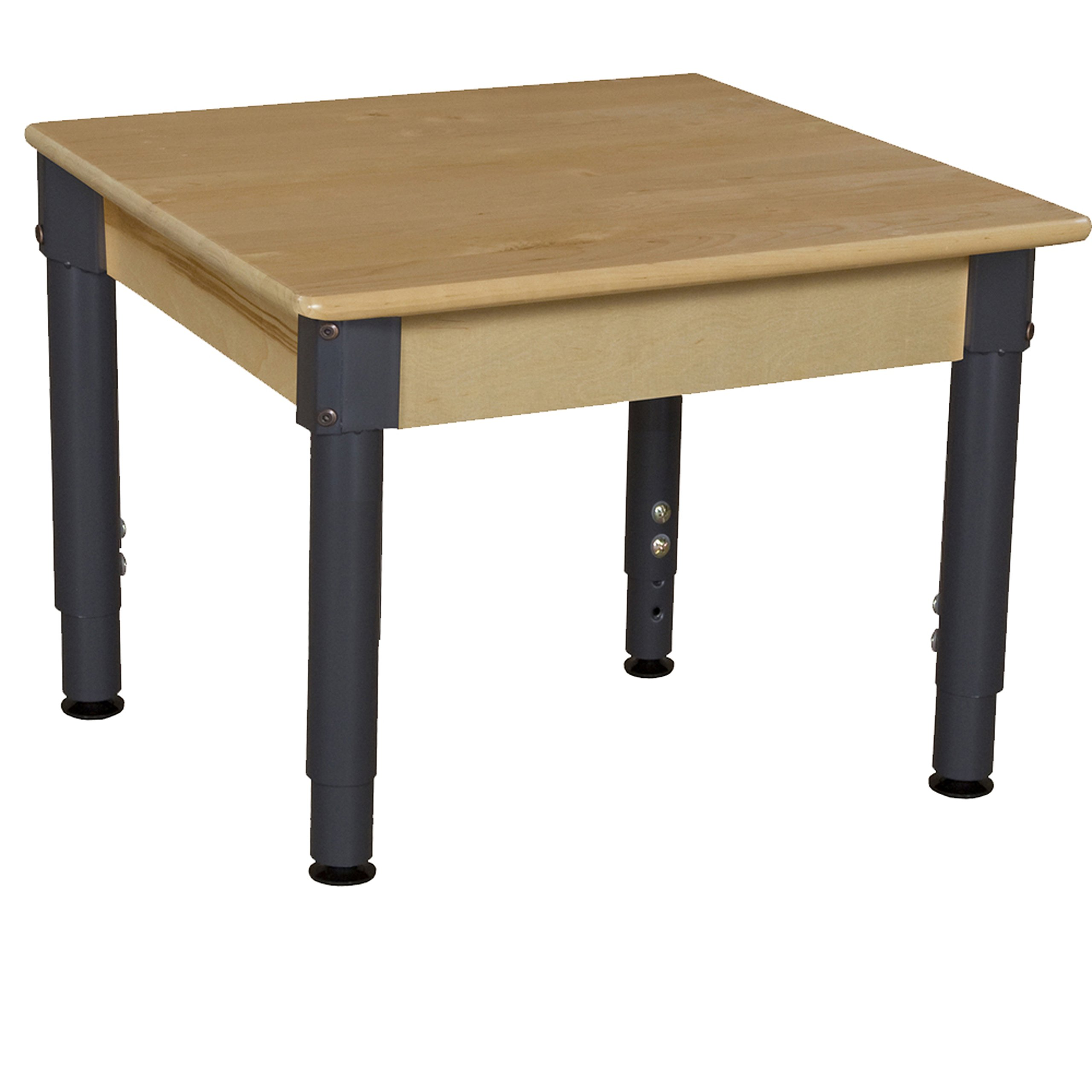 Wood Designs WD824A1217 24'' Square Hardwood Table with  12''-17'' Adjustable Legs