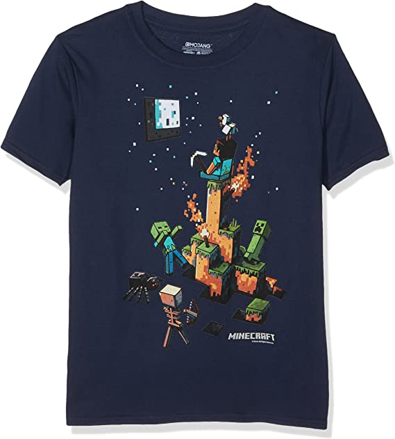 Blue 9-10 Years Minecraft Sprites Boys T-Shirt