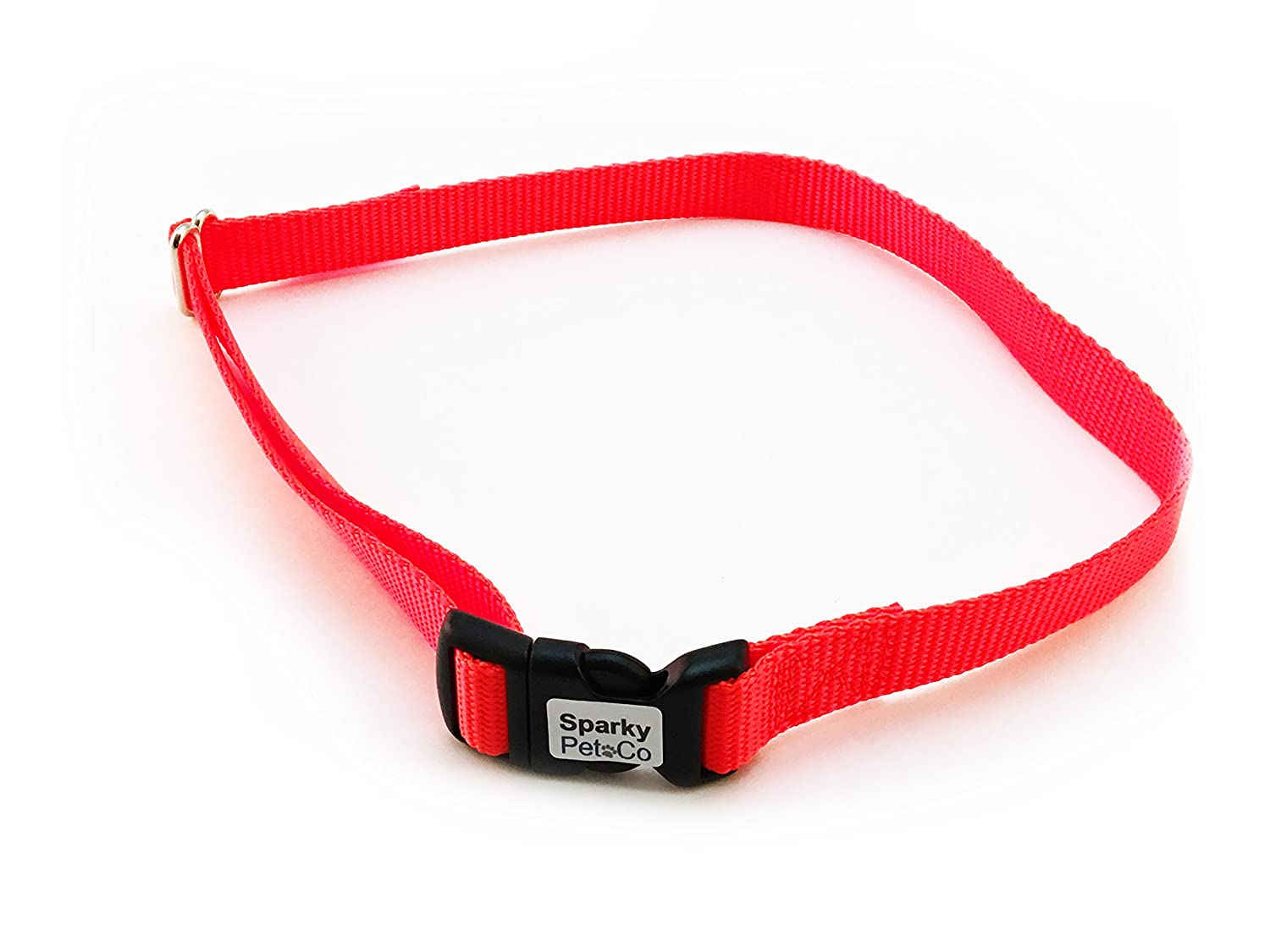 Dog Fence Receiver Heavy Duty 3 4  Solid No Hole Nylon Replacement Strap, Neon O