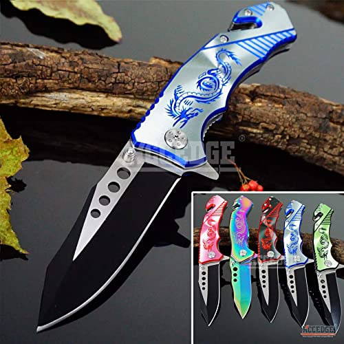 KCCEDGE BEST CUTLERY SOURCE EDC Pocket Knife Camping Accessories Razor Sharp Edge Drop Point Blade Folding Knife Camping Gear Survival Kit 58595