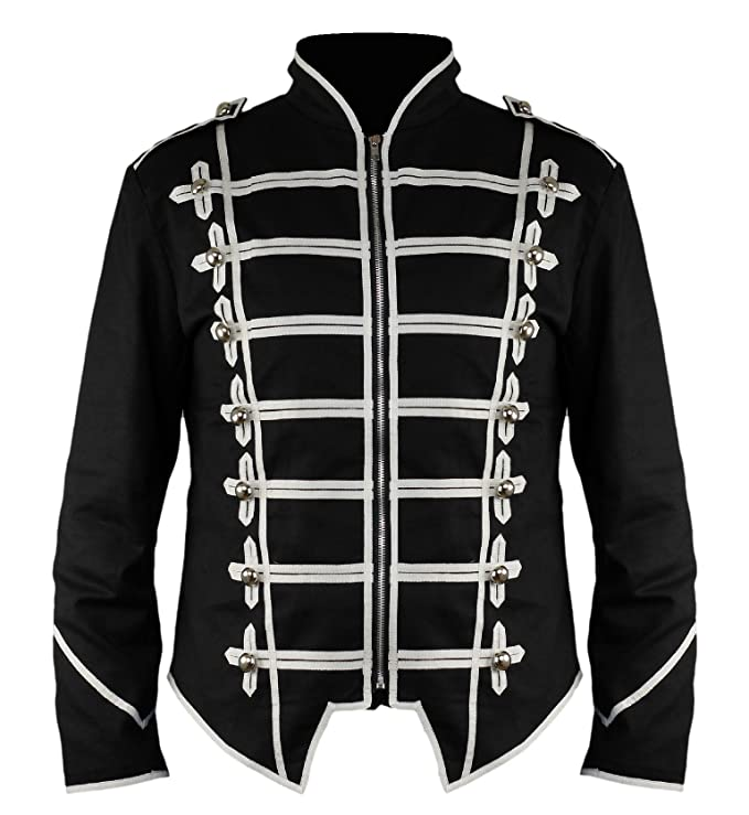 Ro Rox New Steampunk Military Drummer Emo MCR Punk Gothic Parade Jacket at  Amazon Men's Clothing store: