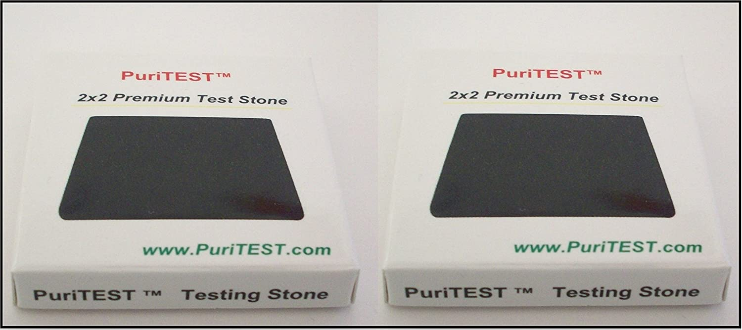 2 x 2 Genuine Gold Testing Stone Natural Obsidian