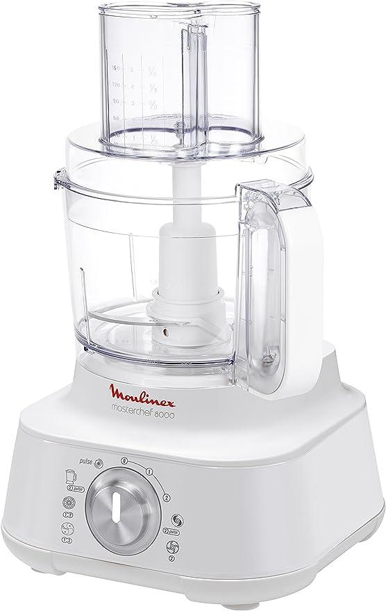 Moulinex Masterchef 8000 850W 3L Blanco - Robot de cocina (3 L, Blanco, De plástico, Acero inoxidable, 850 W): Amazon.es: Hogar