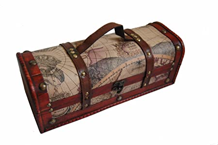 Wooden Wine Storage box-Antique Sailing Map Pattern(Faux Leather)  sc 1 st  Amazon UK & Wooden Wine Storage box-Antique Sailing Map Pattern(Faux Leather ...