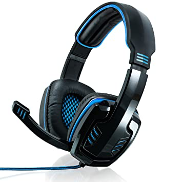 CSL - 7.1 USB Cascos para Juegos con Tarjeta de Sonido - Edición Gaming Plus USB - Almohadillas para los oídos de Cuero sintético Inserto de Malla - ...