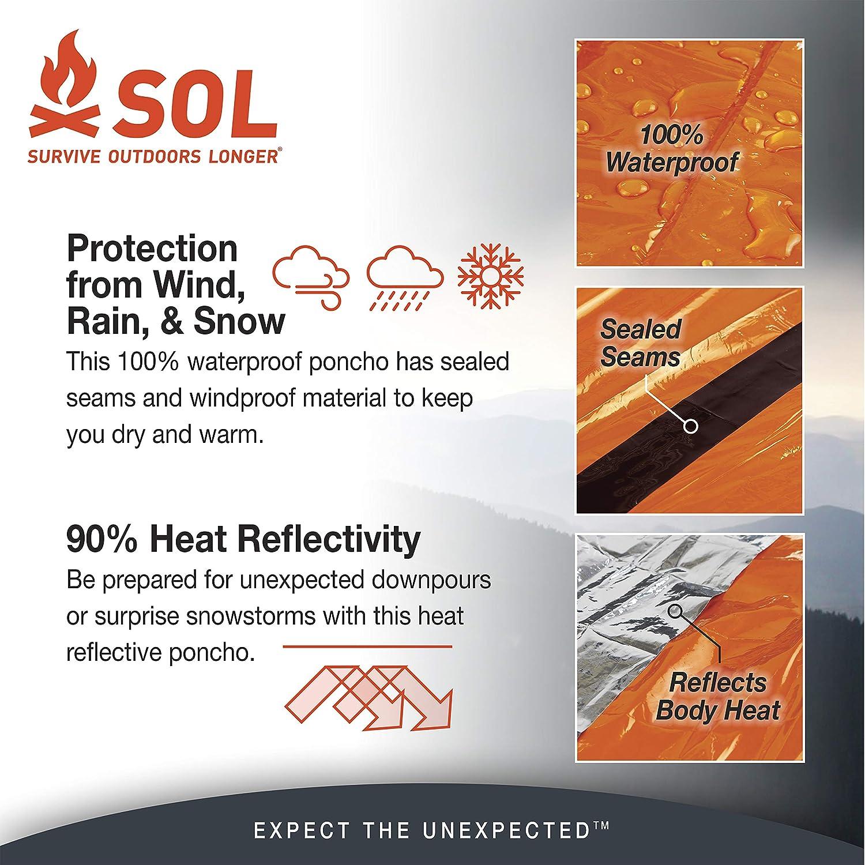 Sol Poncho Survive Outdoors Longer Heat Reflective