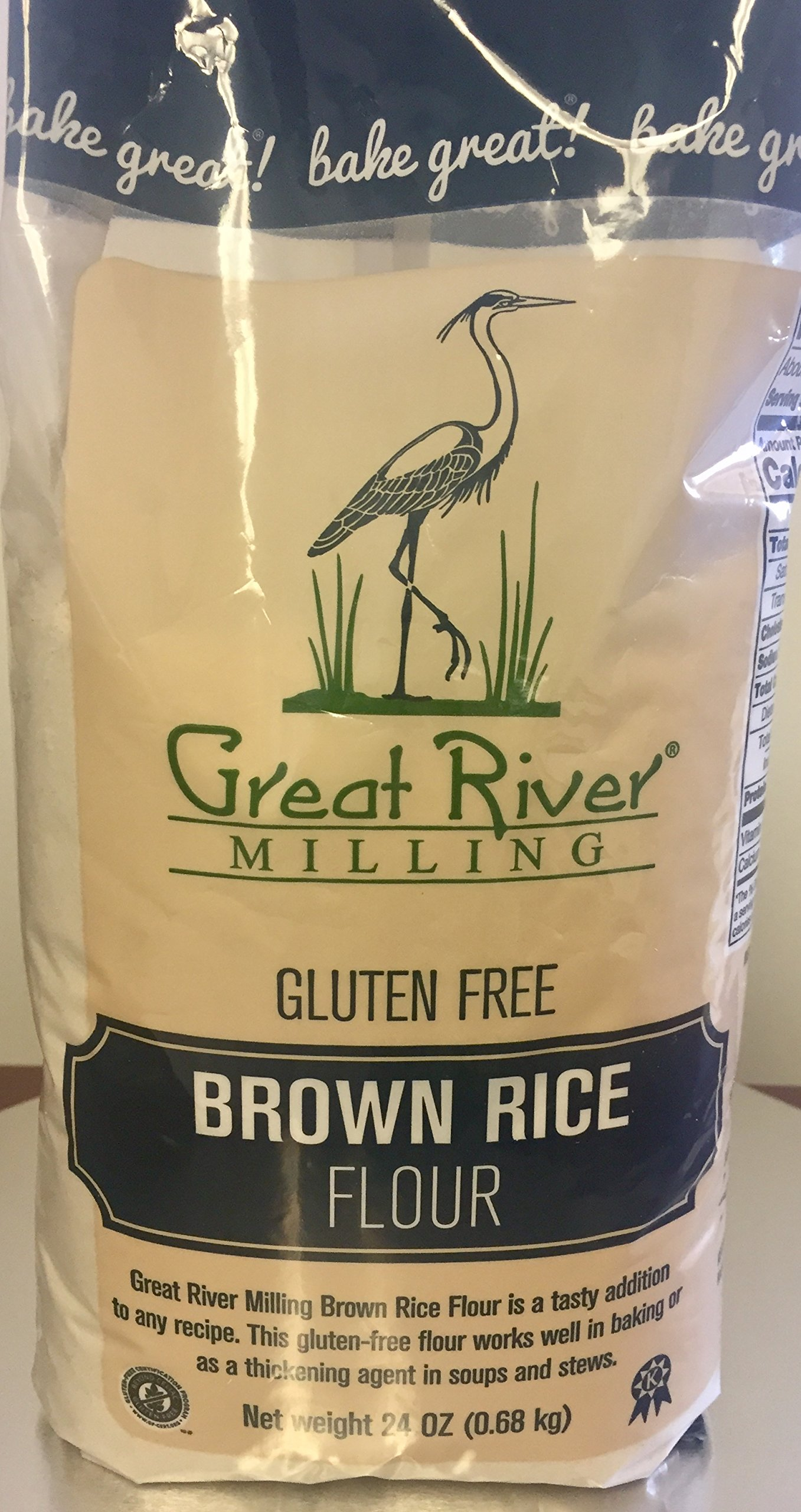 Great River Milling Gluten Free Brown Rice Flour, 24 Ounce (Pack of 4)