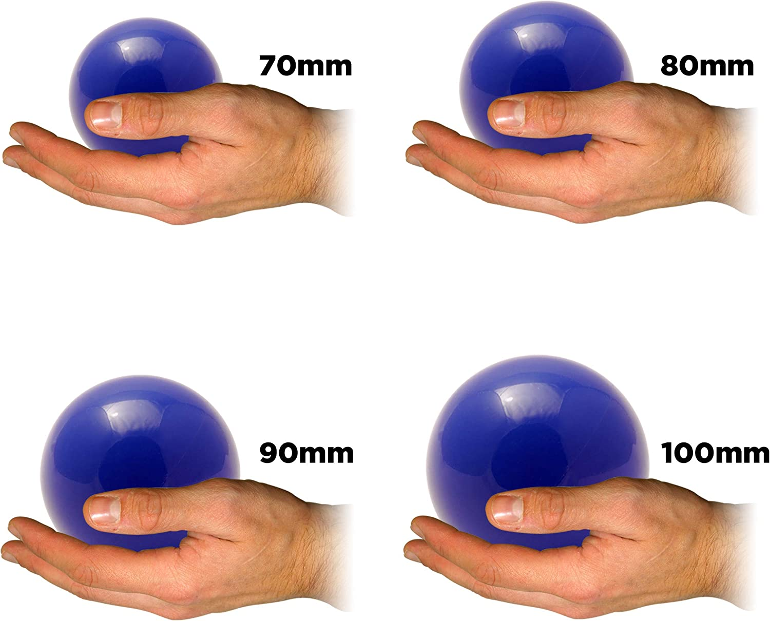 Pink, 80mm Set Includes 1 Play Stage Ball in Size Chosen Body Rolling Manipulation and Ball Stage Juggling for Contact Juggling Play Stage Balls in 4 Sizes! Includes Flames N Games Bag