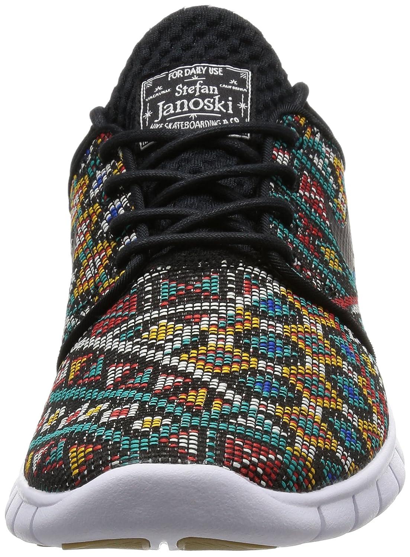 Nike Mens Stefan Janoski Max Prm Black White Gum Light Kuning Brown Ankle High Skateboarding Shoe 95m