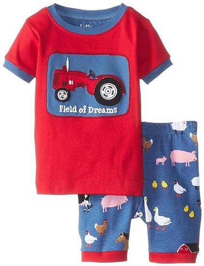 c5b7631cc2 Amazon.com  Hatley Little Boys  Short Pajama Sleep Set - Farmer Jack ...