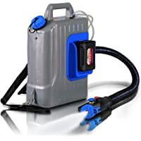 AlphaWorks Fogger Machine Disinfectant Atomizer Backpack w/ 48V DC ULV Sprayer Mist Duster Blower 2.6GAL/10L 1-10GPH Adjustable Particle Size 0-50μm/Mm w/Extended Commercial Hose & Spray Nozzle/Wand