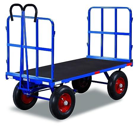 Mano camas carro con 2 Tubo rejilla paredes de carga (kg): 1000 ladefläche