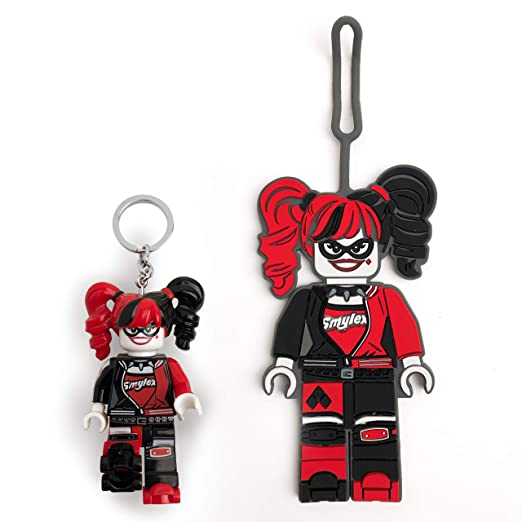 Amazon.com: LEGO Batman Movie Harley Quinn - Llavero de luz ...