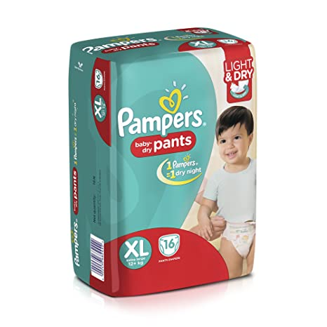 ed8f23c41a Buy Pampers Extra Large Diaper Pants (16 Count) Online at Low Prices in  India - Amazon.in