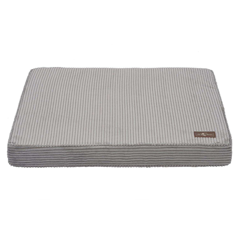 Dove Grey Medium Dove Grey Medium Jax and Bones Corduroy Rectangular Memory Foam Pillow Dog Bed, Medium, Dove Grey
