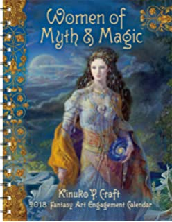 Amazon women of myth magic 2018 fantasy art wall calendar women of myth magic 2018 fantasy art engagement datebook calendar voltagebd Images