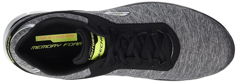 Skechers Herren Synergy-Instant Reactio Ausbilder Sneaker Grau (Light Gray/Black)