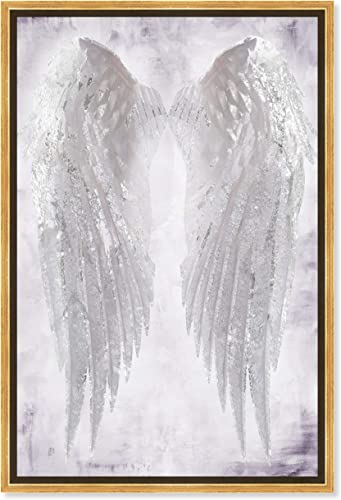 The Oliver Gal Artist Co. Fashion and Glam Framed Wall Art Canvas Prints Angel Amethyst' Wings Home D cor