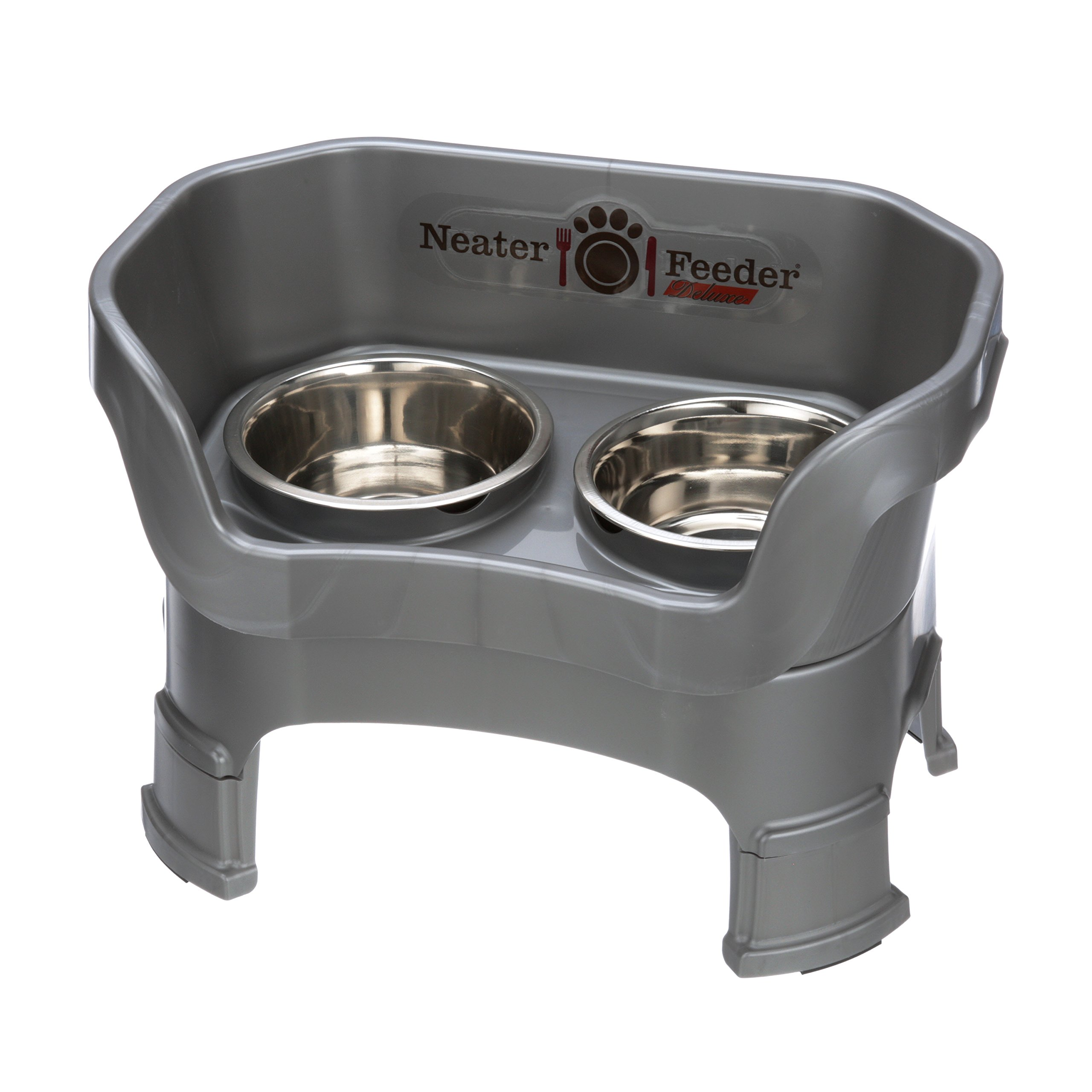 NEATER PET BRANDS Neater Feeder Deluxe with Leg Extensions (Medium, Gunmetal Grey)