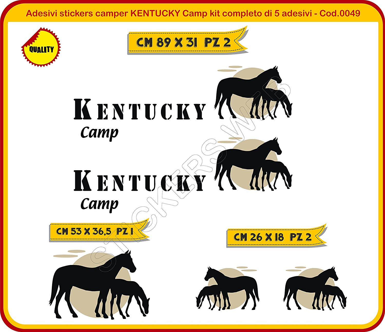 Caravan roulotte cod.0049 /è Possibile Personalizzare i Colori Adesivi Stickers Camper Kentucky Camp Kit Completo Adesivi