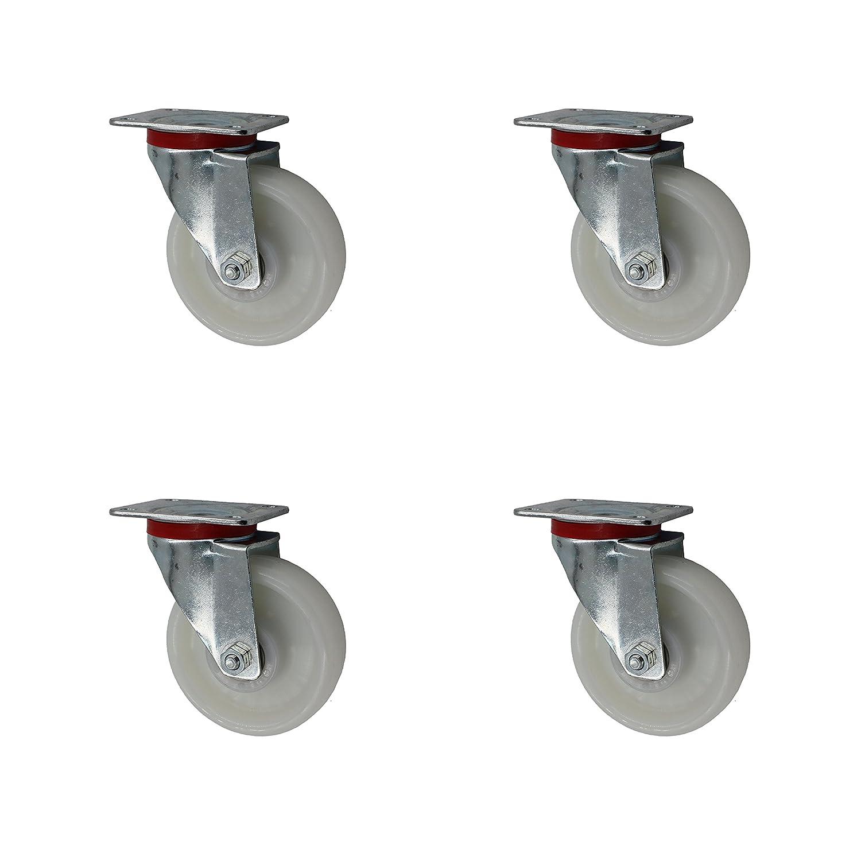 Transportrollen Polyamidrad 125 mm Rad Rolle Rollen Schwerlastrollen Lenkrollen