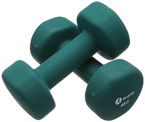 BodyRip - Mancuernas (Neopreno, 2 x 4 kg): Amazon.es: Deportes y ...