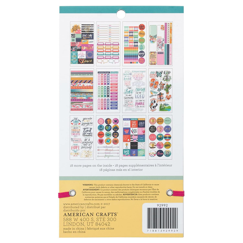 American Crafts 1580 Piece Faith Sticker Books