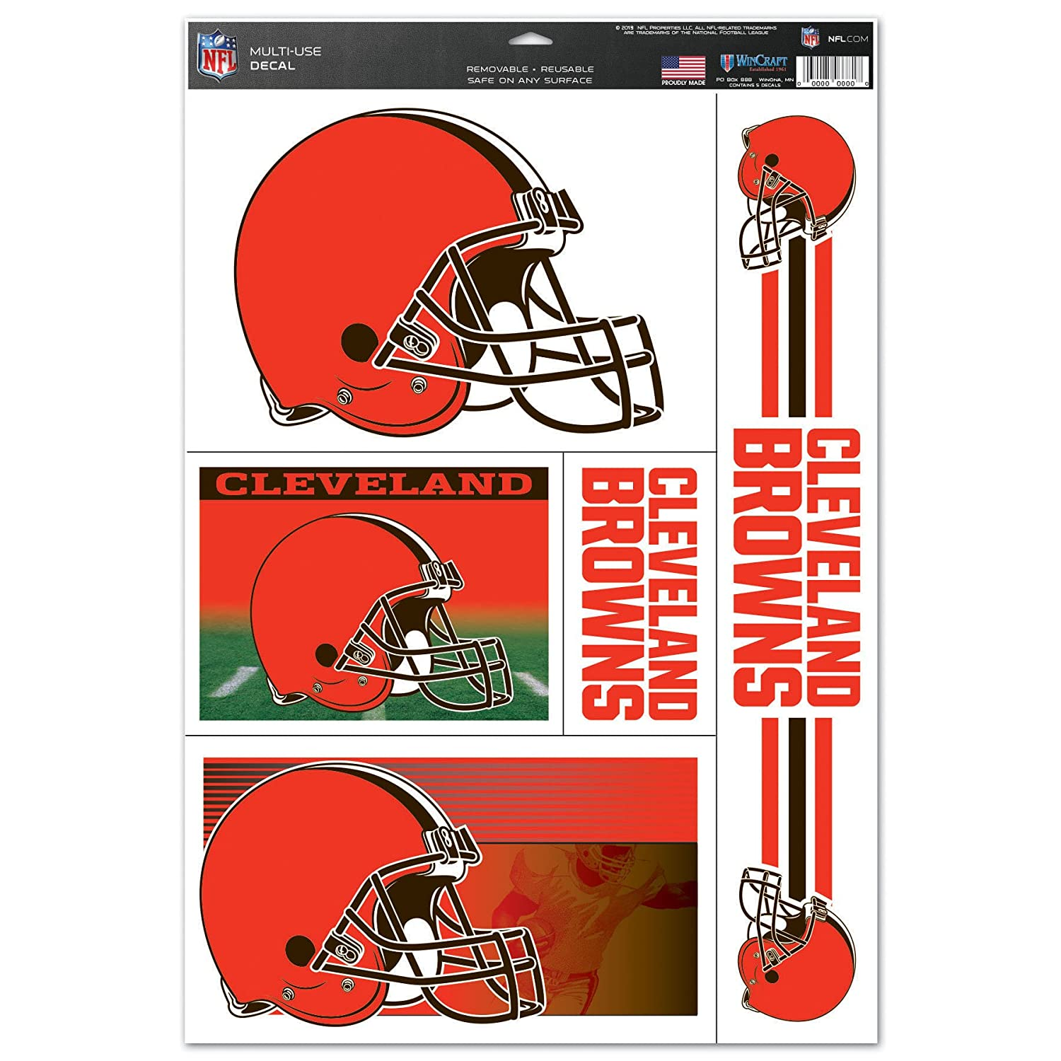 d5e88f079 Amazon.com   Wincraft NFL Cleveland Browns Ultra Decal Sheet