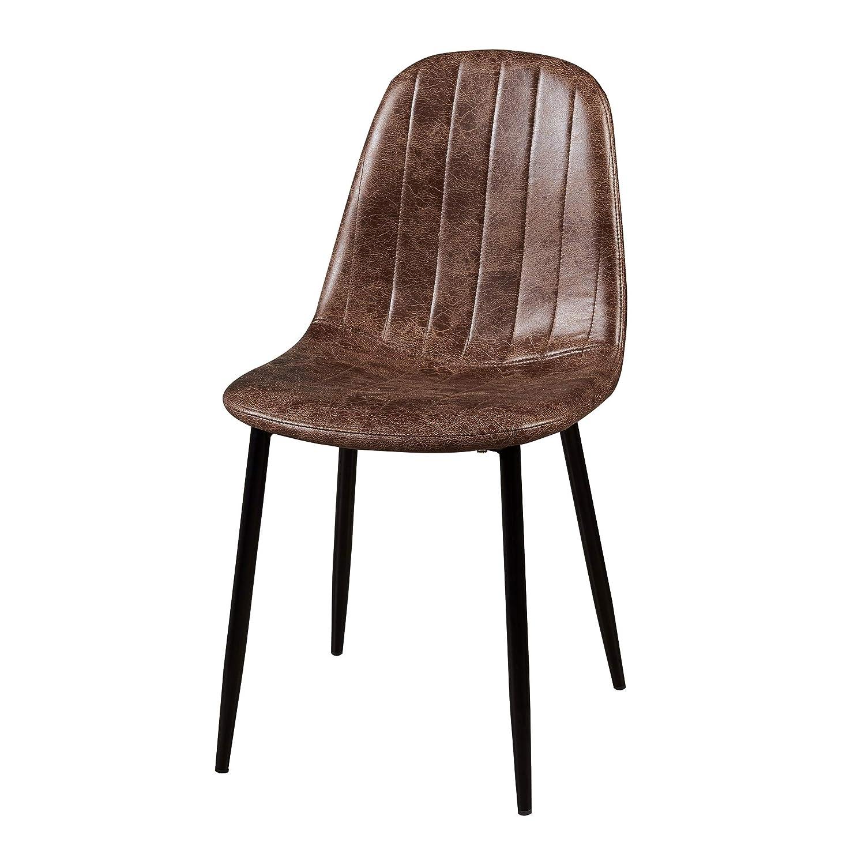 21.65x 16.50 x 33.85 Versanora VNF-00025AF Minimalista Dining -Aged Fabric Set of 2 Chairs