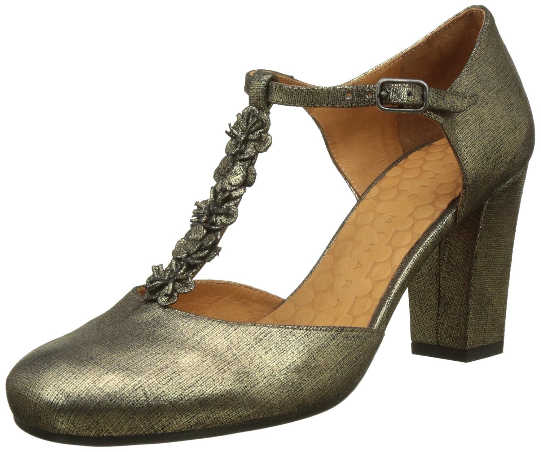 TALLA 38.5 EU. Chie Mihara Anaio, Zapatos con Tacon y Tira Vertical para Mujer
