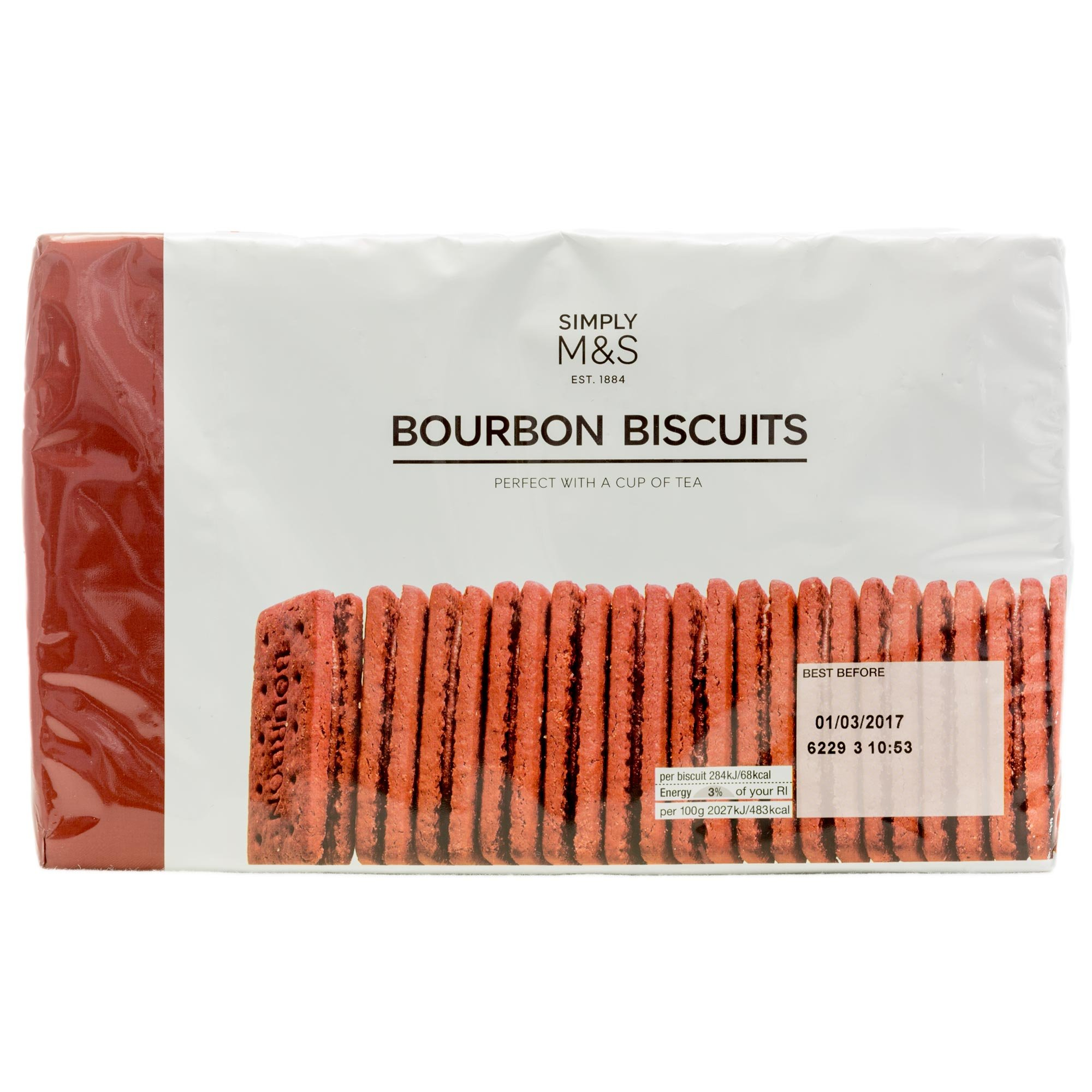 Amazon.com: Marks & Spencer Bourbon Biscuits - Two Packs - 400g x2