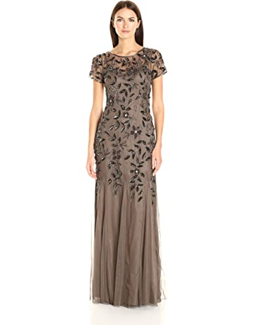 5acdb0abc0f Adrianna Papell Women's Floral Beaded Godet Gown