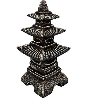 Masiva linterna japonesa de piedra con forma de pagoda, de piedra artificial, resistente a las heladas,…