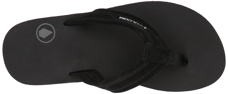 24d28f6dd198 Amazon.com  Volcom Men s Driftin Suede Strap Leather Flip Flop Sandal  Shoes