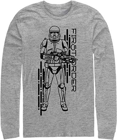 Amazon Com Star Wars The Rise Of Skywalker Men S First Order Sith Trooper Long Sleeve T Shirt Clothing