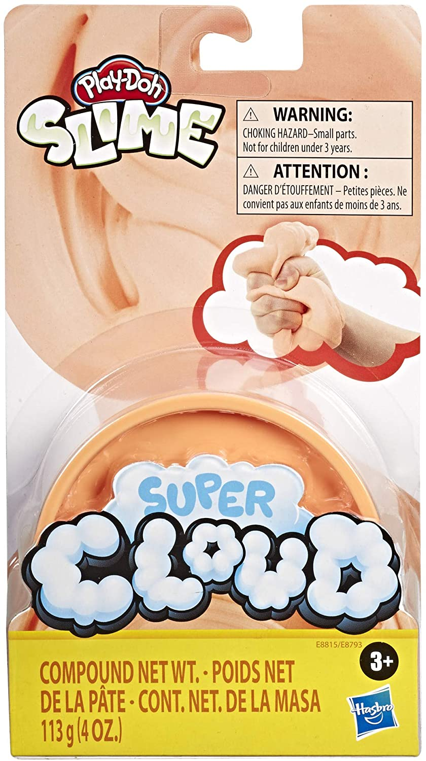 Play-Doh Super Cloud Single Can of Orange Fluffy Slime Compound for Kids 3 Years /& Up