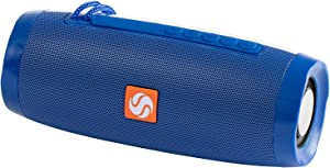 SilverOnyx Bluetooth Speakers Portable Wireless Waterproof Speaker with Lights, Loud Clear Hd Stereo Sound, Rich Bass Subwoofer, Built-in Microphone, Ipx-6 for Shower, Home, Travel - Blue