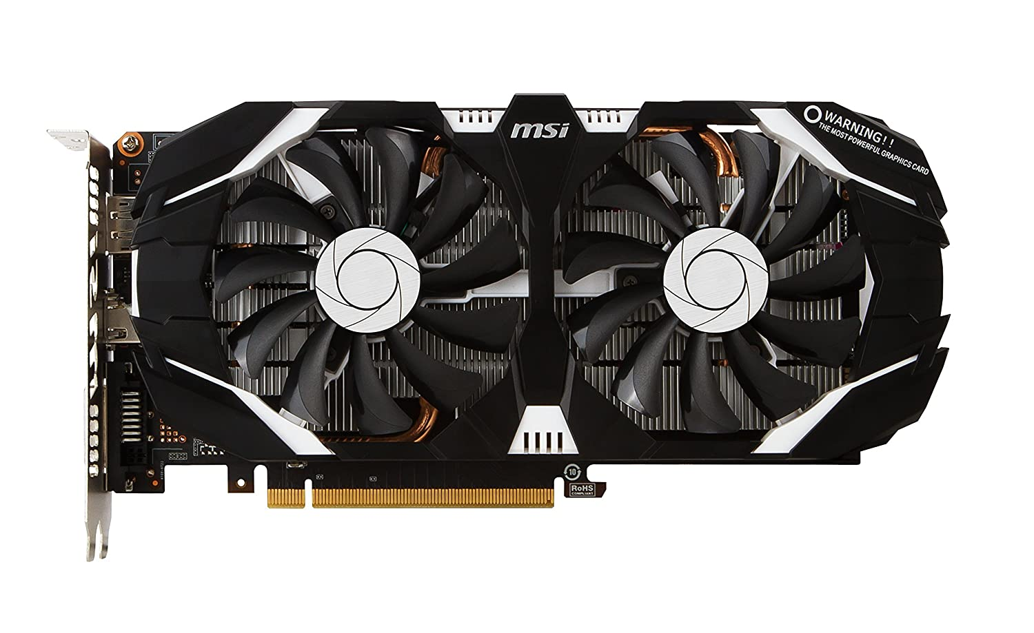 MSI Computer GTX 1060 3GT OC NVIDIA GeForce 3GB GDDR5 DVI/HDMI/DisplayPort PCI-Express Video Card (Renewed)